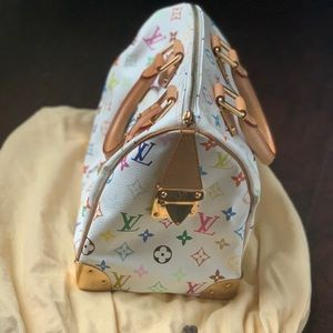 Louis Vuitton multicolor speedy 30 white